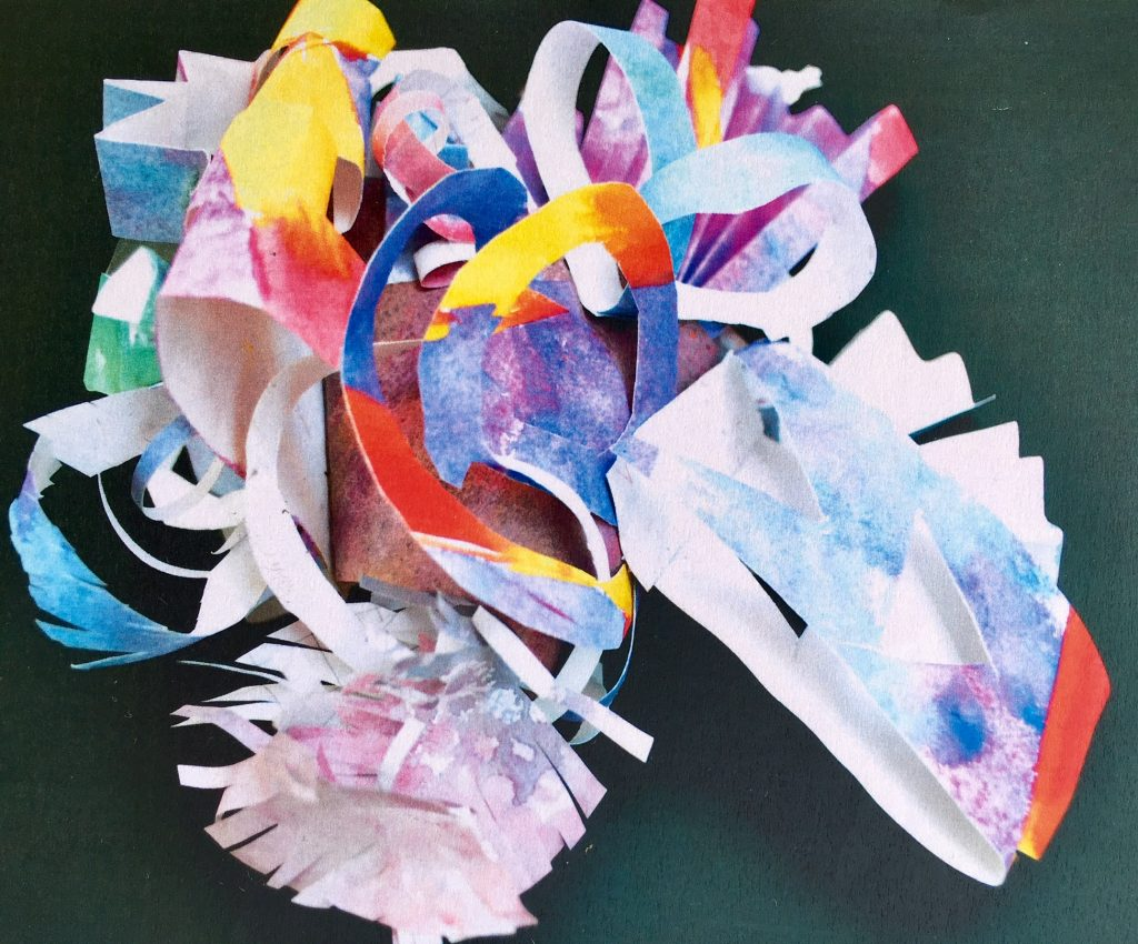 Frank Stella inspired paper sculpture