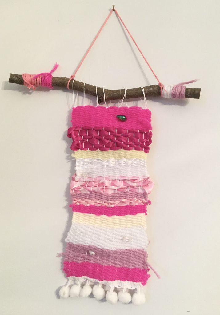 Weaving by a child