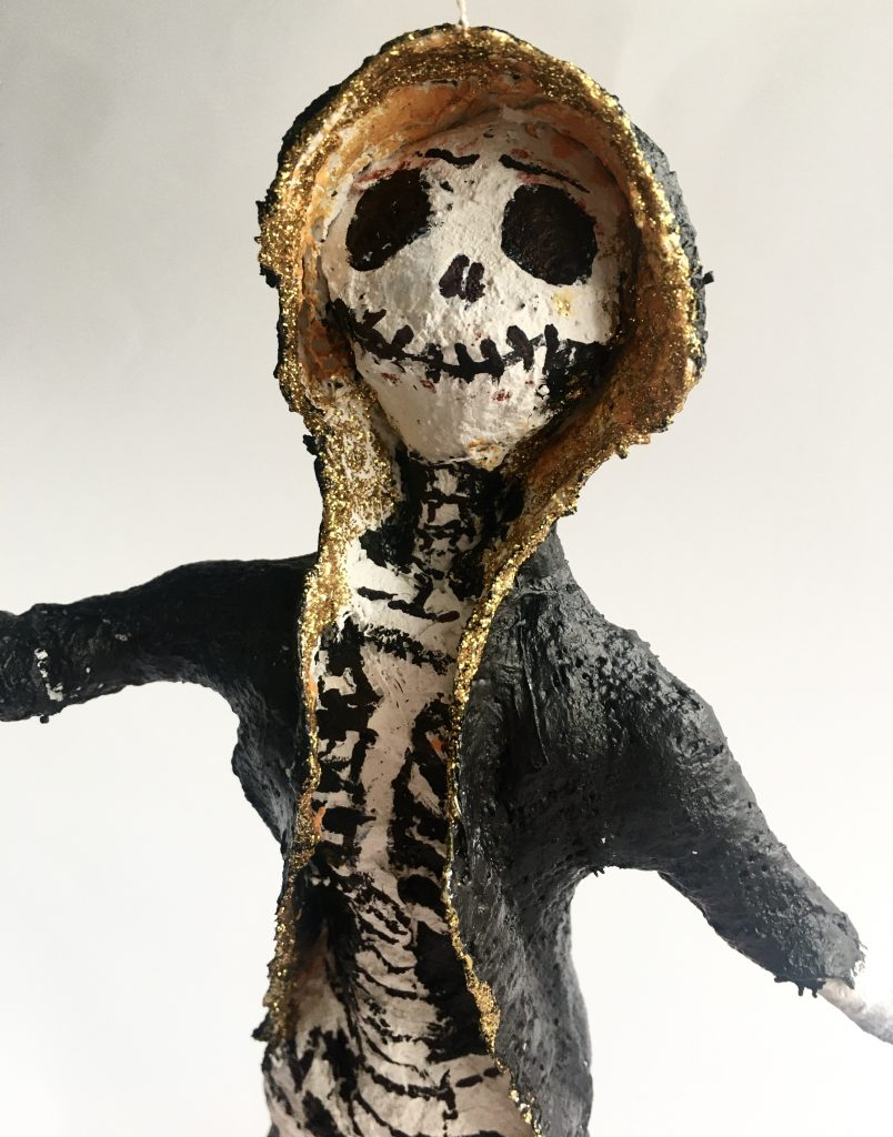 Modroc skeleton sculpture