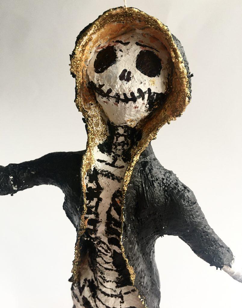 Modroc skeleton sculpture