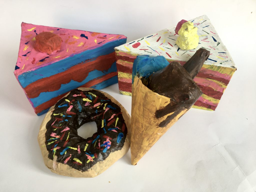 Paper Mache Food sculptures